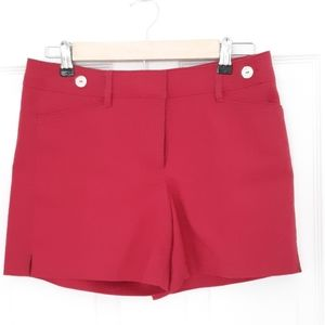 WHBM 5-Inch Shorts in Cranberry Red